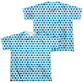 Sesame Street Simple Cookie Pattern (Front Back Print) Short Sleeve Youth Poly Crew T-Shirt