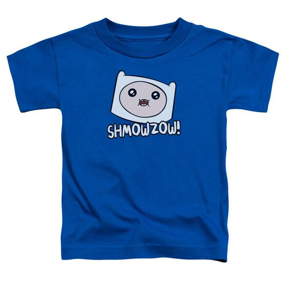 Adventure Time Shmowzow Short Sleeve Toddler Tee Royal Blue T-Shirt
