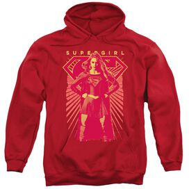 Supergirl Ready Set Adult Pull Over Hoodie