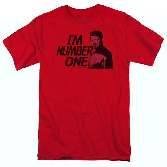 STAR TREK IM NUMBER ONE - S/S ADULT 18/1 - RED T-Shirt
