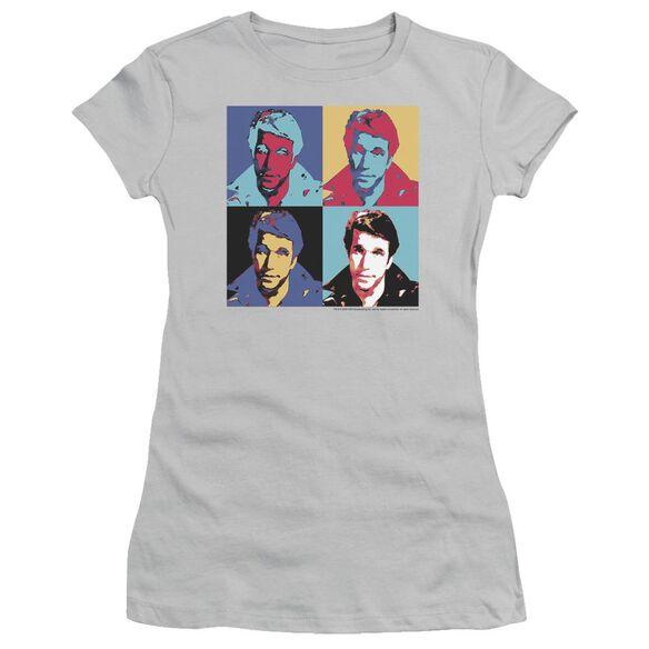 Happy Days Fonz Pop Short Sleeve Junior Sheer T-Shirt