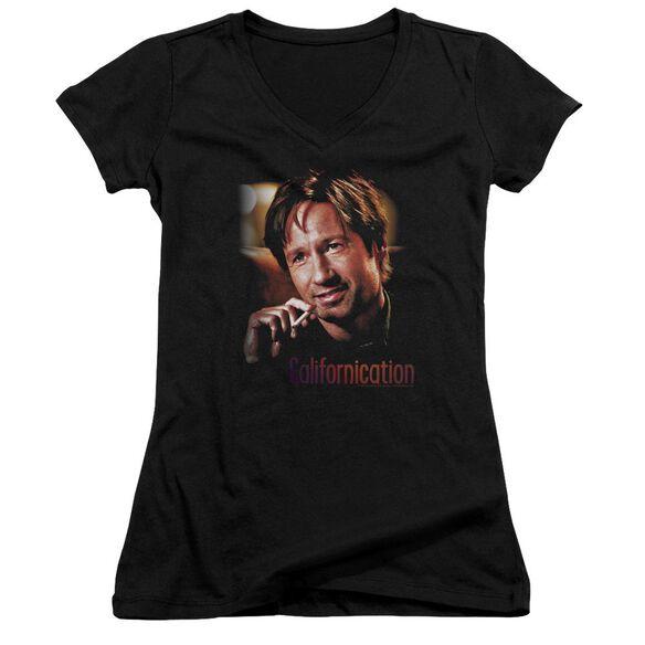 Californication Smoker Junior V Neck T-Shirt