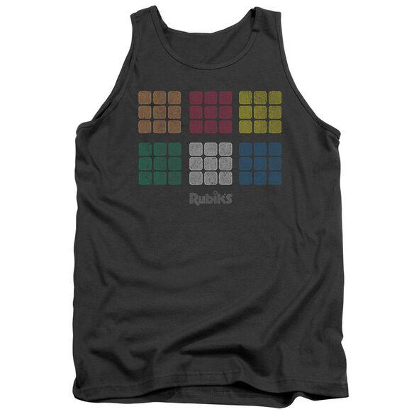 Rubik's Cube Minimal Squares Adult Tank