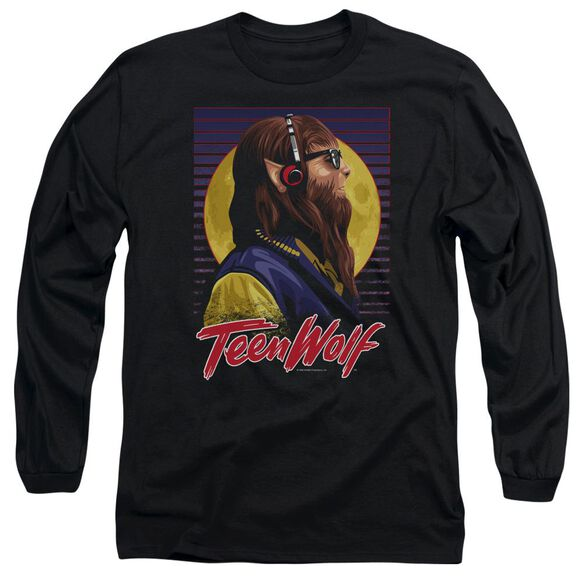 Teen Wolf Headphone Wolf Long Sleeve Adult T-Shirt