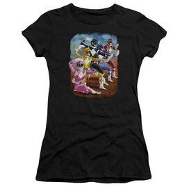 Power Rangers Impressionist Rangers Short Sleeve Junior Sheer T-Shirt