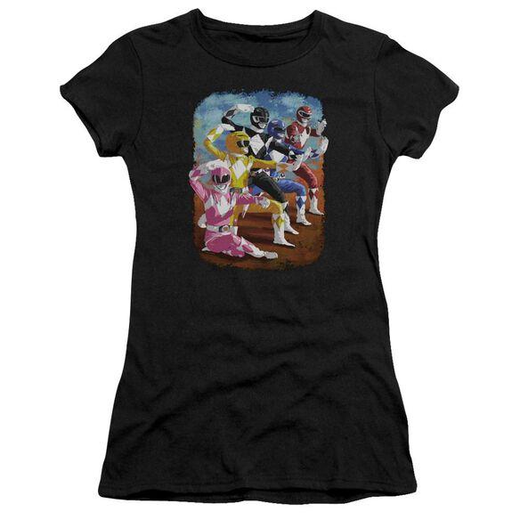 Power Rangers Impressionist Rangers Hbo Short Sleeve Junior Sheer T-Shirt