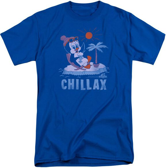 Chilly Willy Chillax Short Sleeve Adult Tall Royal Royal T-Shirt