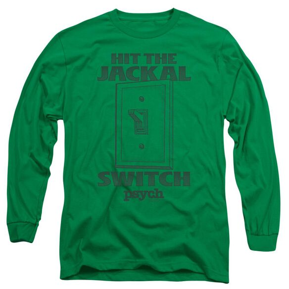 Psych Jackal Switch Long Sleeve Adult Kelly T-Shirt