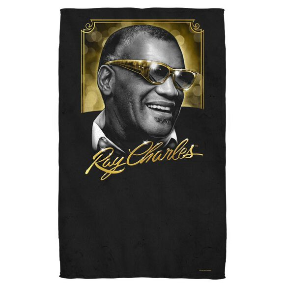 Ray Charles Golden Glasses Bath Towel
