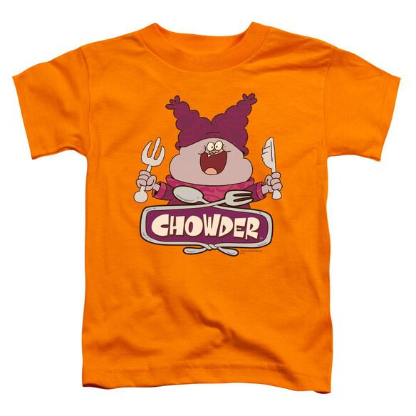 Chowder Logo Short Sleeve Toddler Tee Orange Md T-Shirt