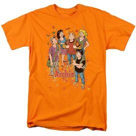 Archie Comics Colorful Short Sleeve Adult Orange T-Shirt