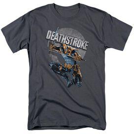 Jla Deathstroke Retro Short Sleeve Adult T-Shirt