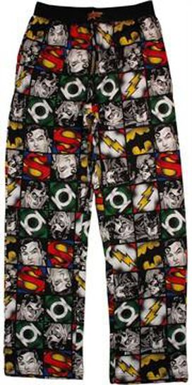 Justice League Grid Pajama Pants