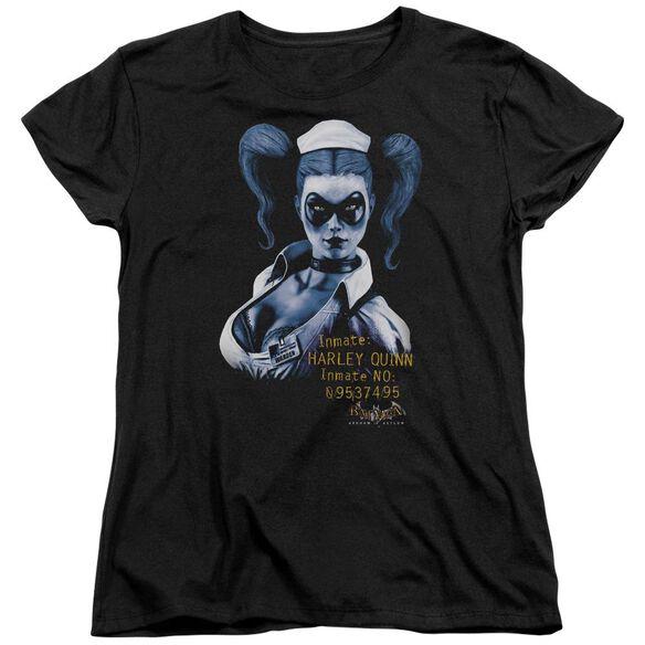 BATMAN AA ARKHAM HARLEY QUINN - S/S WOMENS TEE - BLACK T-Shirt