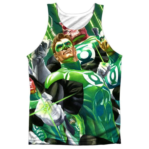 Green Lantern High Beams Adult 100% Poly Tank Top