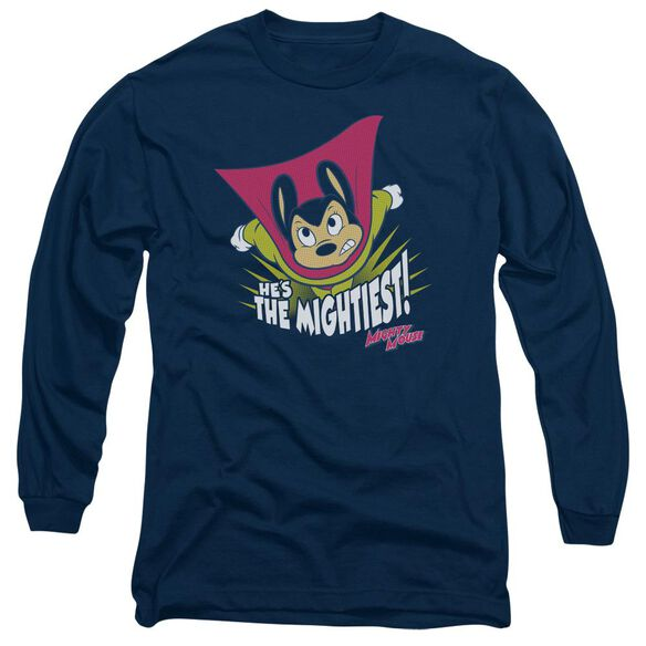 Mighty Mouse The Mightiest Long Sleeve Adult T-Shirt