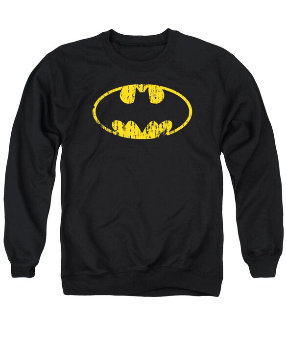 Batman Classic Logo Distressed Adult Crewneck Sweatshirt