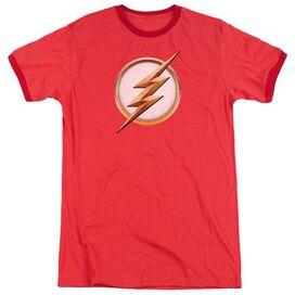Flash Season 4 Logo Adult Ringer Red