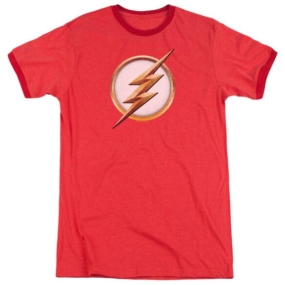 Flash Season 4 Logo Adult Ringer Red