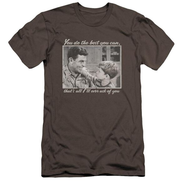 Andy Griffith Wise Words Premuim Canvas Adult Slim Fit
