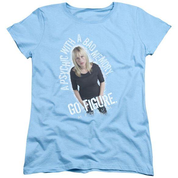 Medium Go Figure Short Sleeve Womens Tee Light T-Shirt