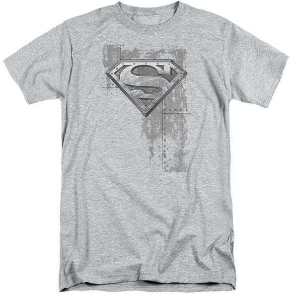 Superman Riveted Metal Short Sleeve Adult Tall Athletic T-Shirt
