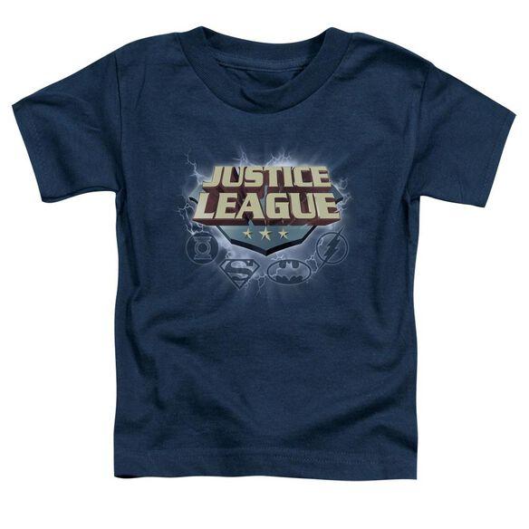 Jla Storm Logo Short Sleeve Toddler Tee Navy Lg T-Shirt