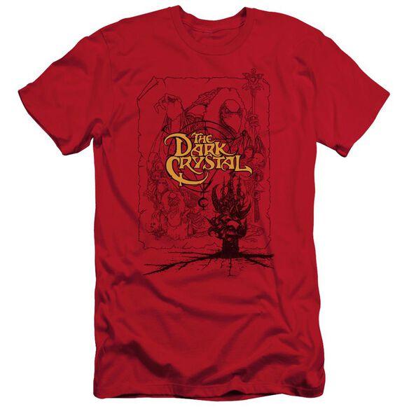 Dark Crystal Poster Lines Short Sleeve Adult T-Shirt