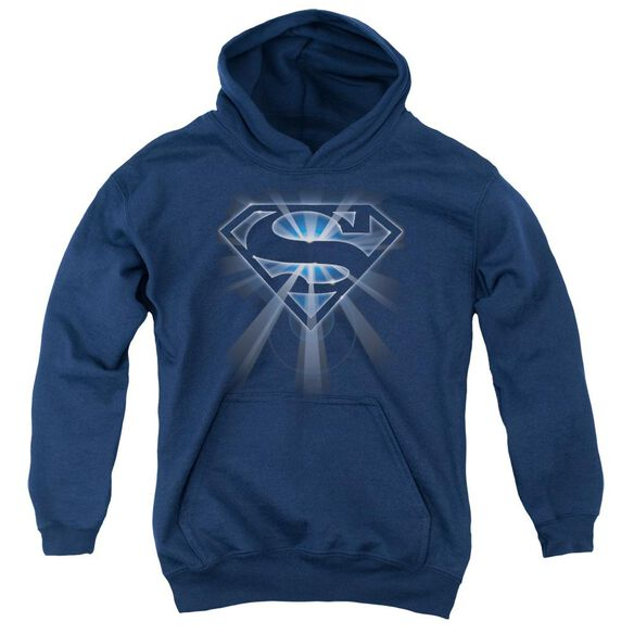 Superman Glowing Shield Youth Pull Over Hoodie