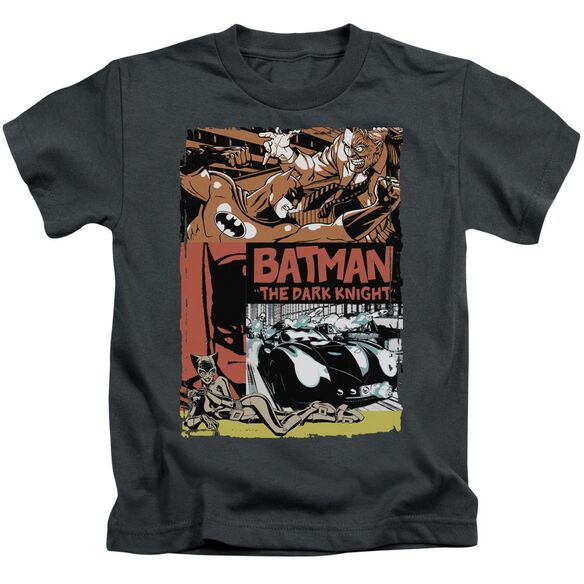 Batman Old Movie Poster Short Sleeve Juvenile Charcoal T-Shirt