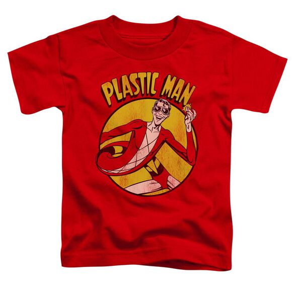 Dc Plastic Man Short Sleeve Toddler Tee Red Md T-Shirt