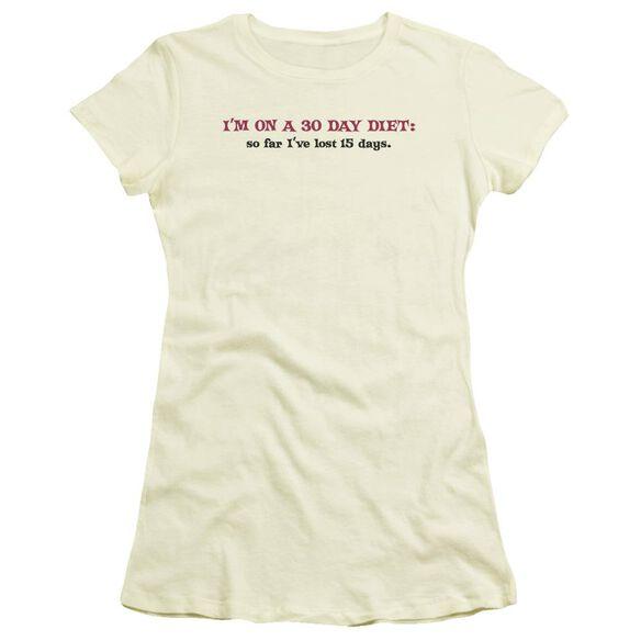 30 Day Diet Hbo Short Sleeve Junior Sheer T-Shirt