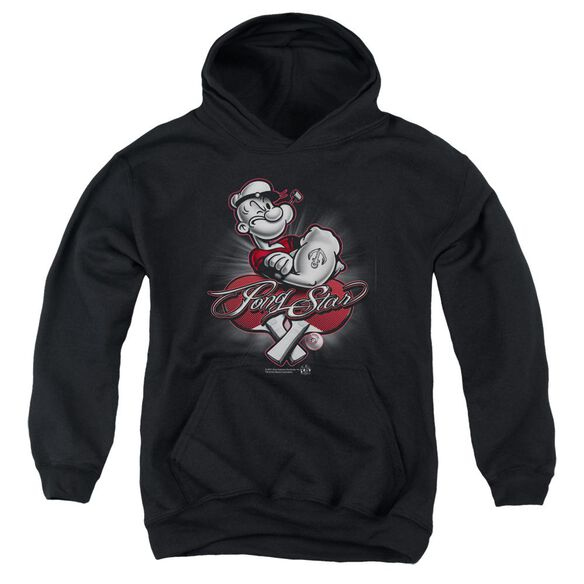 Popeye Pong Star Youth Pull Over Hoodie