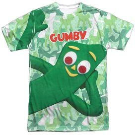 Gumby Gumbyflage Short Sleeve Adult Poly Crew T-Shirt