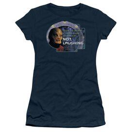 Sg1 Not Laughing Short Sleeve Junior Sheer T-Shirt