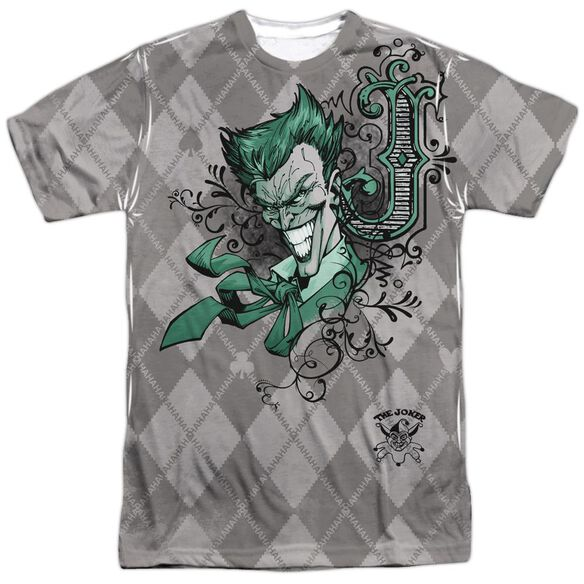 Batman Jokergyle Short Sleeve Adult 100% Poly Crew T-Shirt