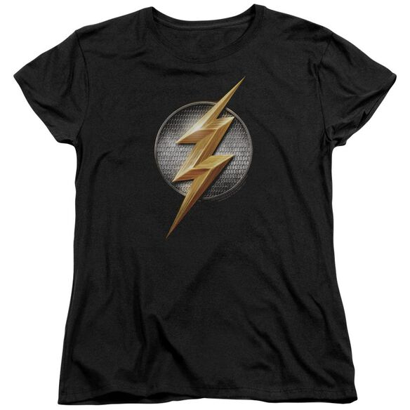 Justice League Movie Flash Logo Short Sleeve Womens Tee T-Shirt