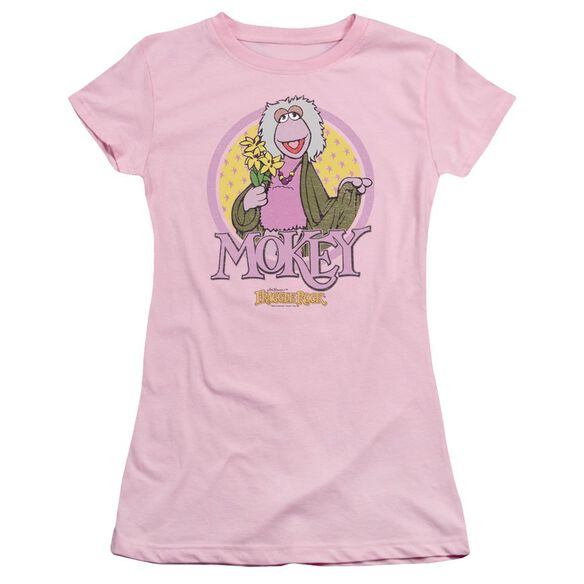 Fraggle Rock Mokey Circle Short Sleeve Junior Sheer T-Shirt