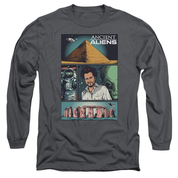 Ancient Aliens Aliens Comic Page Long Sleeve Adult T-Shirt