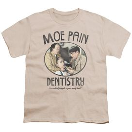 Three Stooges Moe Pain Short Sleeve Youth T-Shirt