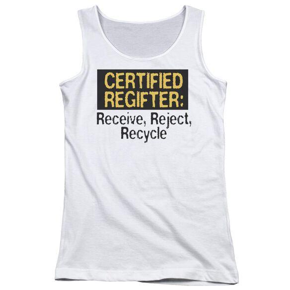 Certified Regifter Juniors Tank Top