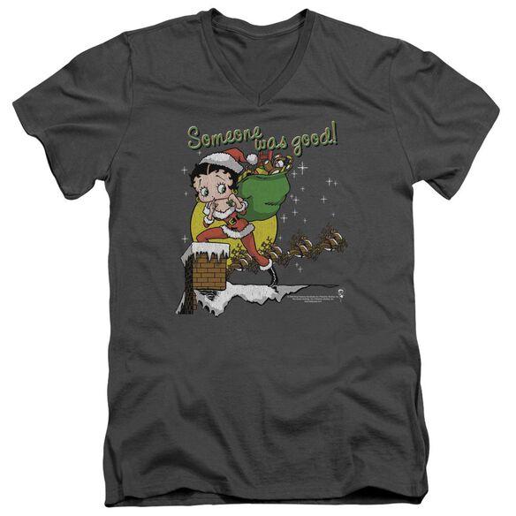Betty Boop Chimney Short Sleeve Adult V Neck T-Shirt