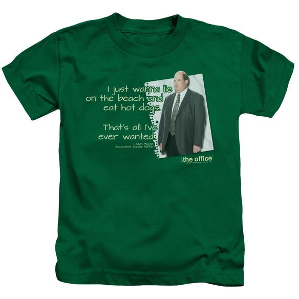 The Office Kevin's Dream Short Sleeve Juvenile Kelly Green T-Shirt