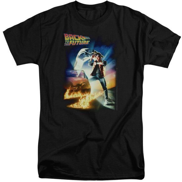 Back To The Future Poster Short Sleeve Adult Tall T-Shirt