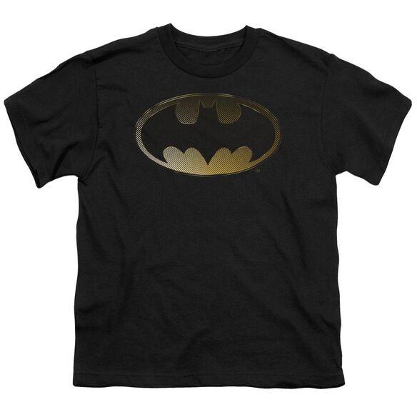 BATMAN HALFTONE BAT - S/S YOUTH 18/1 - BLACK T-Shirt