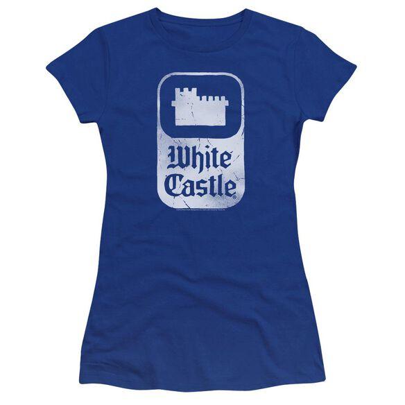 White Castle Classic Logo Premium Bella Junior Sheer Jersey Royal