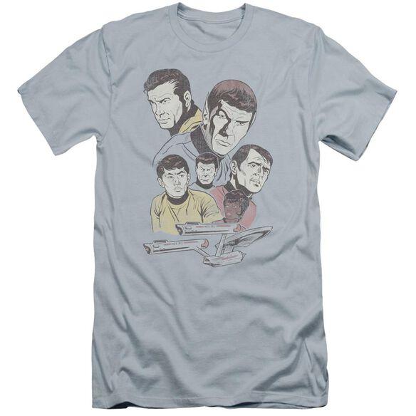 Star Trek Retro Crew Premuim Canvas Adult Slim Fit Light