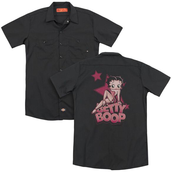 Betty Boop Sexy Star (Back Print) Adult Work Shirt