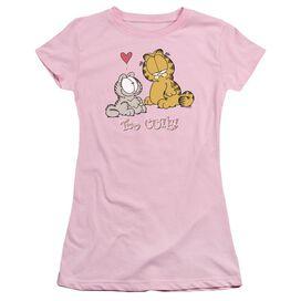 Garfield Too Cute Short Sleeve Junior Sheer T-Shirt
