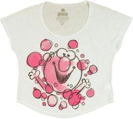 Mr Bubble Watercolor Crop Ladies Tee